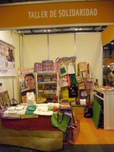 Taller de Solidaridad participó en la feria Biocultura con productos de Comercio Justo