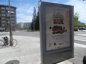 Promoción del Comercio Justo en mobiliario urbano de Vitoria-Gasteiz