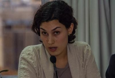 """Elba Estrada en su intervención en el debate """"¿Qué justicia comercial para qué Unión Europea?"""" (Madrid, 3 diciembre 2013)"""
