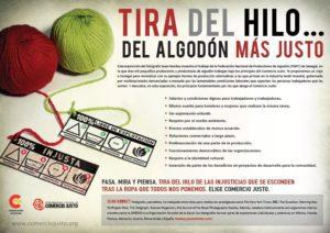 """Exposición """"Tira del hilo del algodón más justo"""" en Teruel"""
