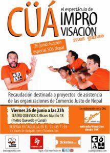 Este viernes 26 junio: teatro de improvisación a beneficio de las organizaciones de Comercio Justo de Nepal