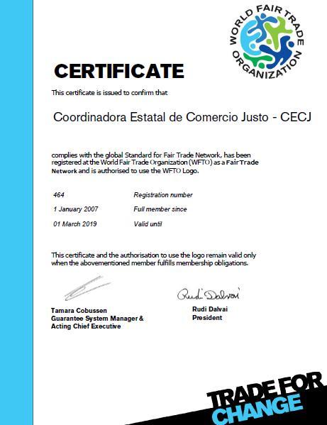 La Coordinadora Estatal de Comercio Justo, miembro de pleno derecho de la Organización Mundial del Comercio Justo