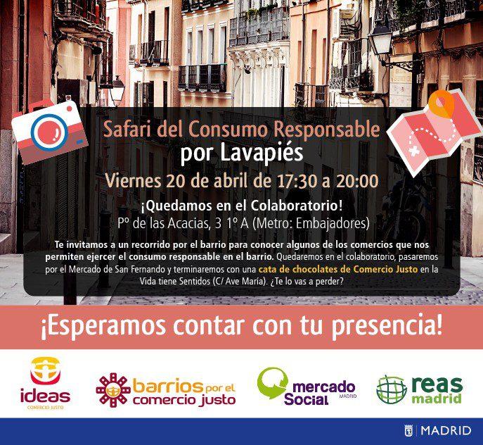 Safari del consumo responsable y el Comercio Justo por el barrio de Lavapiés