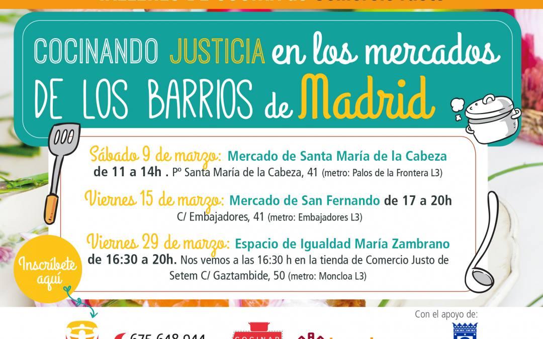 Día mundial de las personas consumidoras: cocinando justicia en los barrios de Madrid