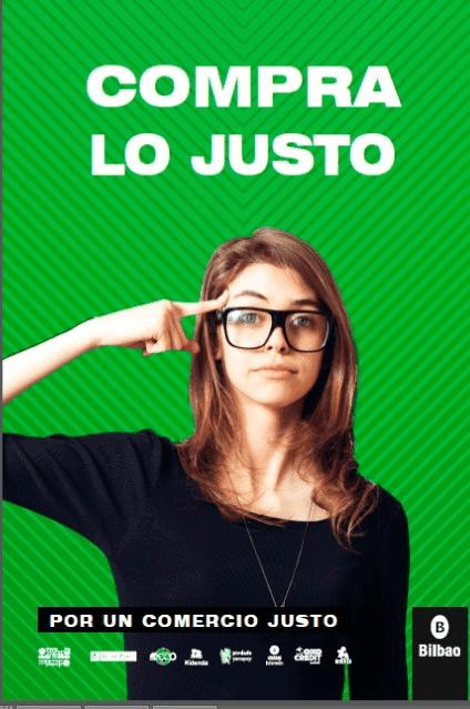 Campaña «Compra lo justo» en el Metro de Bilbao