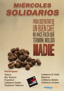 medicusmundi álava y comerciantes de Vitoria-Gasteiz impulsan los «Miércoles Solidarios»