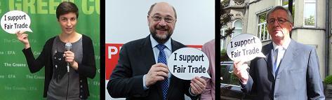 Cuatrocientos candidatos al Parlamento y tres aspirantes a presidir la Comisión Europea se comprometen con el Comercio Justo