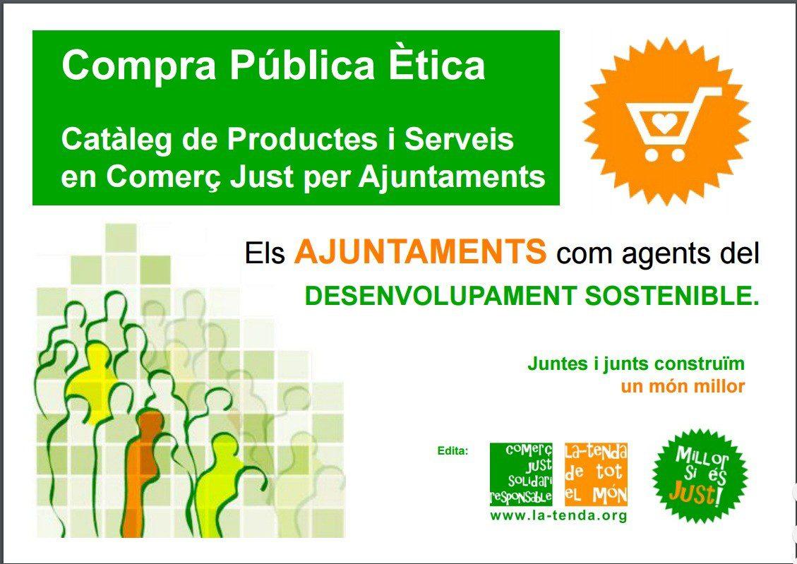La Tenda de Tot el Món edita un nuevo catálogo para los Ayuntamientos que quieran sumarse a la Compra Pública Ética