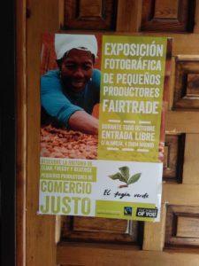 Exposición de productores Fairtrade y sorteo Fairtrade #cafelfiejusta