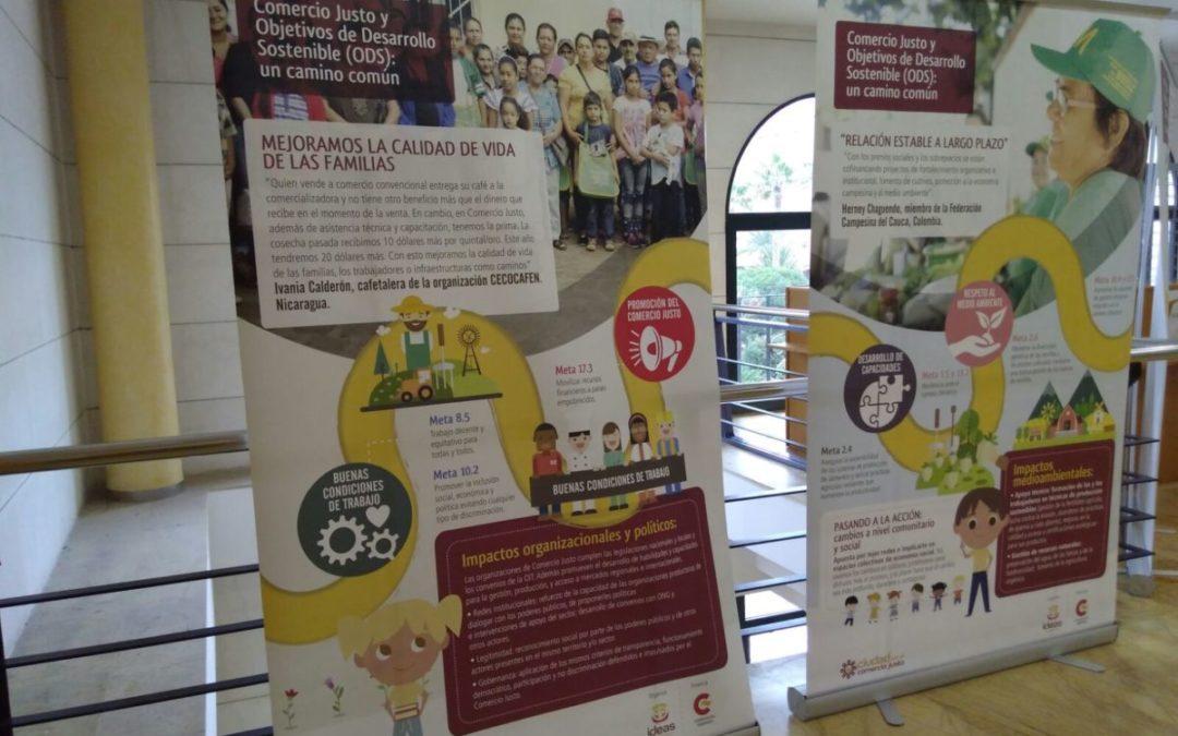 La exposición sobre los Objetivos de Desarrollo Sostenible y el Comercio Justo llega a Sagunto