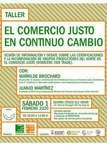 Las organizaciones de Comercio Justo valencianas debatirán sobre la incorporación de grupos productores del Norte