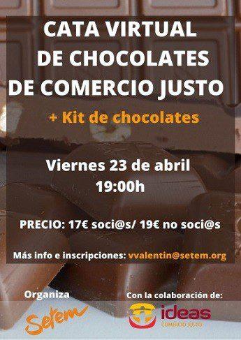 Cata virtual de chocolates de Comercio Justo